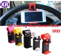 Wholesale car steering phone holder resale online - Car Steering Wheel Phone Socket Holder SMART Clip Car Bike Mount for iPhone6 iphone plus s5 S4 NOTE Bracket For iPhone i9100 i9220 Millet