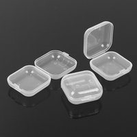 Wholesale storage case mini containers resale online - Mini Clear Plastic Small Box Jewelry Earplugs Storage Box Case Container Bead Makeup Transparent Organizer Gift Box CT0433