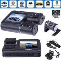 Wholesale dvr car dual lens for sale - Group buy Dual Lens Car DVR Camera quot Full HD P LCD Video Dash Cam Rear View Camera