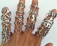 mercados de joyería al por mayor-Comercio al por mayor 25 Unids Mix 316L estilo anillos de acero inoxidable de moda banda cruzada anillo de la joyería del motorista para hombre mujer mercado de pulgas