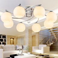 Wholesale industrial home decor for sale - Group buy modern glass ball Round Crystal Ceiling Light For Living Room lighting with Remote Controlled luminaria industrial ceiling lamp home decor