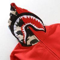 menino londres pulôver branco venda por atacado-Casais forma dos homens de tubarão hoodies bordado tubarão MA1 voo Male Tide tubarão Homens Hoodie de revestimentos encapuçados