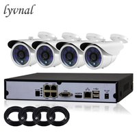 poe cctv kit оптовых-LYVNAL PoE CCTV NVR kit 4CH 1080P POE CCTV System HD 2.0MP Video Security camera infrared outdoor 1080p Surveillance System Kit