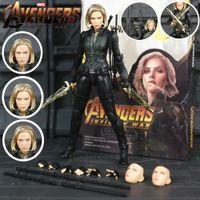 Wholesale figures avengers black widow resale online - New In Box Marvel Avengers Infinity War KO S H Figuarts SHF Black Widow quot Action Figure Scarlett Johansson Legends Doll Toys