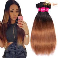 Wholesale brazilain hair straight for sale - Group buy 8A Ombre Human Hair Brazilain Straight Hair Bundles b Virgin Human Hair Weave or bundles