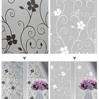Wholesale home decor glasses resale online - New Self Adhesive Film Waterproof PVC Frosted Glass Opaque Window Privacy Film Sticker Bedroom Bathroom Home Decor Film x100cm
