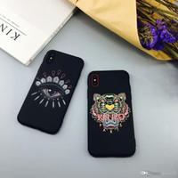 iphone köpfe großhandel-2018 marke tiger kopf augen telefonkasten für iphone 6s 6 6 plus rückseitige abdeckung für iphone 7 7 plus 8 8 plus x xs xr xs max