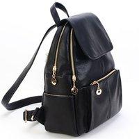 bolso de escuela de cuero de imitación al por mayor-Bolso de hombro de cuero de imitación de moda para mujer Bolso de escuela de viaje Bolso de mano