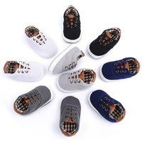 boş zaman bebek ayakkabıları toptan satış-Çocuklar Prewalker Bebek Frenulum Kanvas Ayakkabılar Yumuşak Sole Katı Sıcak Nefes Giyilebilir Çocuklar Eğlence Yürüyüş Ayakkabıları 32