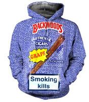 plus größe 3d drucken hoody groihandel-16 Styles Echt USA Größe Backwoods 3D Sublimationsdruck Hoody / Hoodie Plus Size