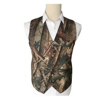 Wholesale men wedding vest style new for sale - 2019 New Fashion Camo Men Vests Custom Made camouflage Groom Vest Slim Fit Prom Vest Wedding Waistcoat