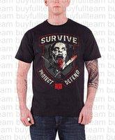 kurz schützen groihandel-Walkers Gedrucktes T-Shirt der Männer schwarze kurze Ärmel kidstopsfashion Rundhals T Shirt Größe S M L XL 2XL 3XL Defend überleben Protect