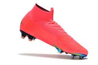 tacos de fútbol rosa al por mayor-Venta caliente Botas de fútbol CR7 Rosa Mercurial Superfly VI 360 Elite FG TF IC Zapatos de fútbol Zapatos de fútbol Zapatillas
