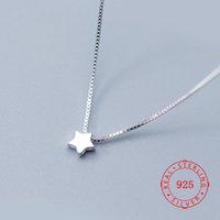 ordenando moda china al por mayor-pedidos de cantidades pequeñas pequeña estrella colgante de collar de joyas de moda de las señoras de China 925 joyas de plata