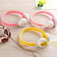 Wholesale cartoon headphones wired headband for sale - Cartoon Head Headphones Super Cute Girl Heart Animation With Male And Female Students Creative Headset Universal