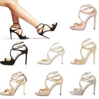 siyah yüksek topuklu sandaletler kadınlar toptan satış-19 Kadınlar Tasarımcı Sandalet Yani Kate Stilleri Moda Lüks kız yüksek topuklu 10 CM 12 CM LANCE siyah pembe beyaz Gümüş Deri Noktası boyutu 35-42