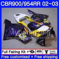 carrinhos roxos para honda cbr venda por atacado-Bodys Para HONDA CBR900RR CBR 954 RR CBR954RR 02 03 CBR900 RR 280HM.56 CBR 900RR CBR954 RR CBR 954RR 2002 2003 Kit de carenagem CAMELO Roxo quente