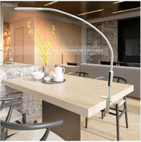arm schützen großhandel-Lange Arm Tischlampe Clip Büro Führte Schreibtischlampe Fernbedienung Augengeschützte Lampe Für Schlafzimmer Led Licht 5-stufig BrightnessColor