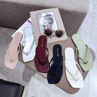 плоская обувь korea новый оптовых-Корея Dongdaemun Женская обувь 2019 Лето New Toe Повседневные Плоские шлепанцы