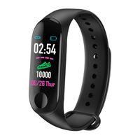 reloj smart оптовых-M3 Интеллект браслет здоровья Smart Band Часы сердечного ритма Активность Фитнес-трекер pulseira Relógios reloj inteligente PK fitbit DHL