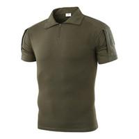 ingrosso maglietta manica corta dell'esercito-T-shirt da escursionismo outdoor T-shirt mimetica tattica da caccia a maniche corte T-shirt da pesca traspiranti