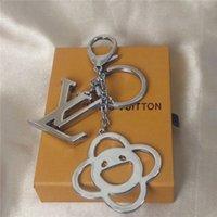 Wholesale antique compass pendant resale online - 2020Delicate circular letter luxury key chain multiple pendant bag charm fashion key chain