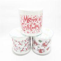 neuheit servietten großhandel-3packs 30m / pack Weihnachts-Design bedruckt Serviette Papier Toilettenpapier-Rolle-Neuheit-Toiletten-Gewebe Großhandel