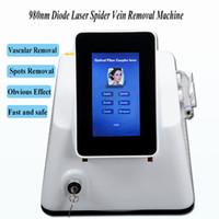 venda de anel azul venda por atacado-Venda quente 980nm diodo laser tratamento Remoção Vasos Sanguíneos vasculares Equipado com 5 anéis azuis