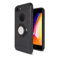 caso dos dedos 3d venda por atacado-360 rotativa tpu pc finger ring case caso de telefone de metal 3d para samsung a80 / a90 a40 nota 10 pro nota 10