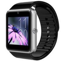 androide preise großhandel-Fabrikpreis 2 stücke GT08 Bluetooth Smart Uhr unterstützung SIM-Karte Gesundheit Uhren für Android Samsung iphone Smartphones Sport Smartwatch