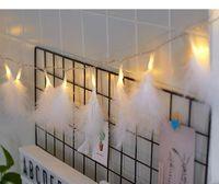 rosa federlampe großhandel-INS rosa Mädchen Herz romantische Feder String, kreative Schlafzimmer Dekoration Lampe Charme, Schlafsaal Anhänger LED blinkende Lichter, Party Ball Dekor