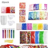 Wholesale diy paper toys for sale - Group buy 52 Pack Slime Making Kit Colorful Foam Ball Granules Flat Beads Gold Powder Candy Paper Polymer Clay Set Children s Diy Toy J190521