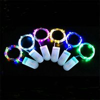 Wholesale battery operated light strings resale online - led string CR2032 Battery Operated Micro Mini Light Copper Silver Wire Starry LED Strips For Christmas Halloween Decoration