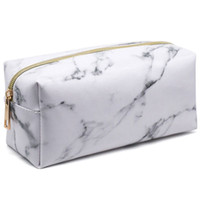 toiletry boxes оптовых-TFTP-New Style Fashion Marble Multi-Function Purse Box Travel  Cosmetic Bag Toiletry Pencil Case