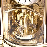 Wholesale high end clocks resale online - POWER Brand High end Desk Clock Silent Quartz Movement Table Clock Crystal Masa Saati Saat Light Control Music Hourly Chiming