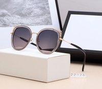 dünne runde brille großhandel-Moderner großer Ladenschildluxus-Sonnenbrille großer Rahmenplanke polarisierte helle Brillendame rundes Gesichtshow dünne Antrieb moderne Sonnenbrille A