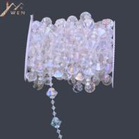Wholesale crystal wedding trees centerpieces resale online - 10M Roll New Rainbow Acrylic Crystal Bead Garland Diamond Strand DIY Wedding Centerpieces Tree Decor T190929