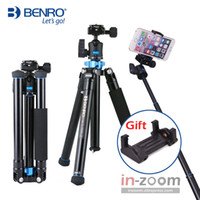 Wholesale benro camera for sale - Group buy Benro IS05 Aluminum Alloy Tripod Kit Center Column Can be Selfie Stick Monopod for Smartphones Mirrorless Cameras Oversea Stock T191025