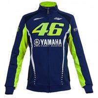 männer zip up sweatshirts großhandel-Moto GP Motocross für Yamaha Racing Blau Moto GP Herren FELPA Zip-Up Sweater Zip Jersey Sweatshirts Mantel Windproof 061