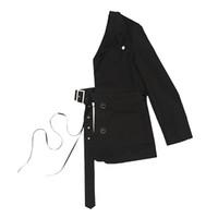 yarım kollu blazerler toptan satış-Z-ZOUX Kadınlar Blazer Özel Yarım Takım Elbise Blazer Ceketler Bel Kemeri Tasarımcı Moda Blazers Kadın Ceket Uzun Kollu Kişilik Yeni