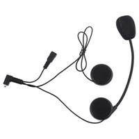 motorrad-headset großhandel-Motorradhelm Intercom Headset Wasserfestes Interphone mit DPS Echounterdrückungstechnologie T - COM02S Motorrad Versandkostenfrei
