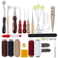 Wholesale stitching kit set for sale - Group buy 31 Professional Leather Craft Tools Kit Hand Sewing Stitching Punch Carving Work Leather craft Tool Sets Accessories