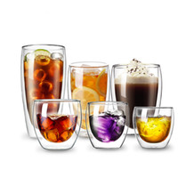 Cafe Coffee Mug Bodum Double Wall Glass Design Anti Scalding Heat Insulation Breakfast Milk Cup Tea Drinking Glasses