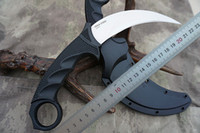 facas karambit correção lâmina venda por atacado-Novo Aço Frio Tigre Karambit VG-1 Lâmina Satin Kraton + Grivory Lidar com Faca Fixo Lâmina com bainha Secure-Ex