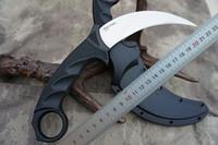 sabit karambit bıçakları toptan satış-Yeni Soğuk Çelik Kaplan Karambit VG-1 Saten Bıçak Kraton + Grivory Kolu Sabit Bıçak ile pençe Bıçak Secure-Ex kılıf