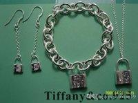 bracelet en argent au détail achat en gros de-Vente en gros - Vente au détail des prix les plus bas cadeau de Noël 925 Silver Love Collier + Bracelet + boucles d'oreilles S76