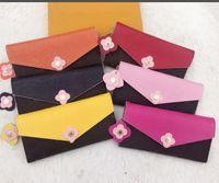 yeni styling ladies cüzdanlar toptan satış-Ücretsiz shpping yeni stil Toptan dipleri bayan uzun cüzdan renkli tasarımcı sikke çanta Kart sahibinin kutusu ile kadınlar klasik fermuarlı cebi