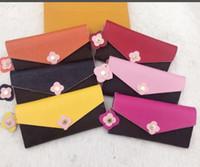 novo estilo senhoras carteiras venda por atacado-Shpping livre novo estilo Atacado bottoms senhora longa carteira multicolor designer coin titular do cartão bolsa com caixa mulheres clássico bolso com zíper