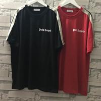 Wholesale tshirt long hip hop for sale - Group buy Newest Palm Angels T Shirt Men Women Streetwear Harajuku Stripe T shirt High Quality Cotton Summer Hip Hop Palm Angels Tshirt