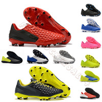 Wholesale bright boots for sale - Group buy 2019 New Tiempo Legend VIII FG mens soccer cleats Under The Radar Red Black Bright Citron Soccer Shoes football boots scarpe da calcio